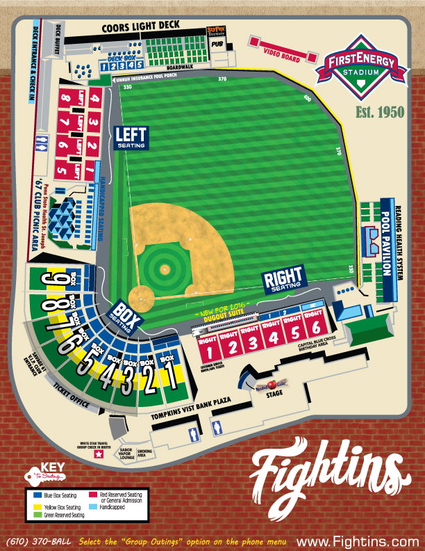 Seating chart reading fightin phils tickets