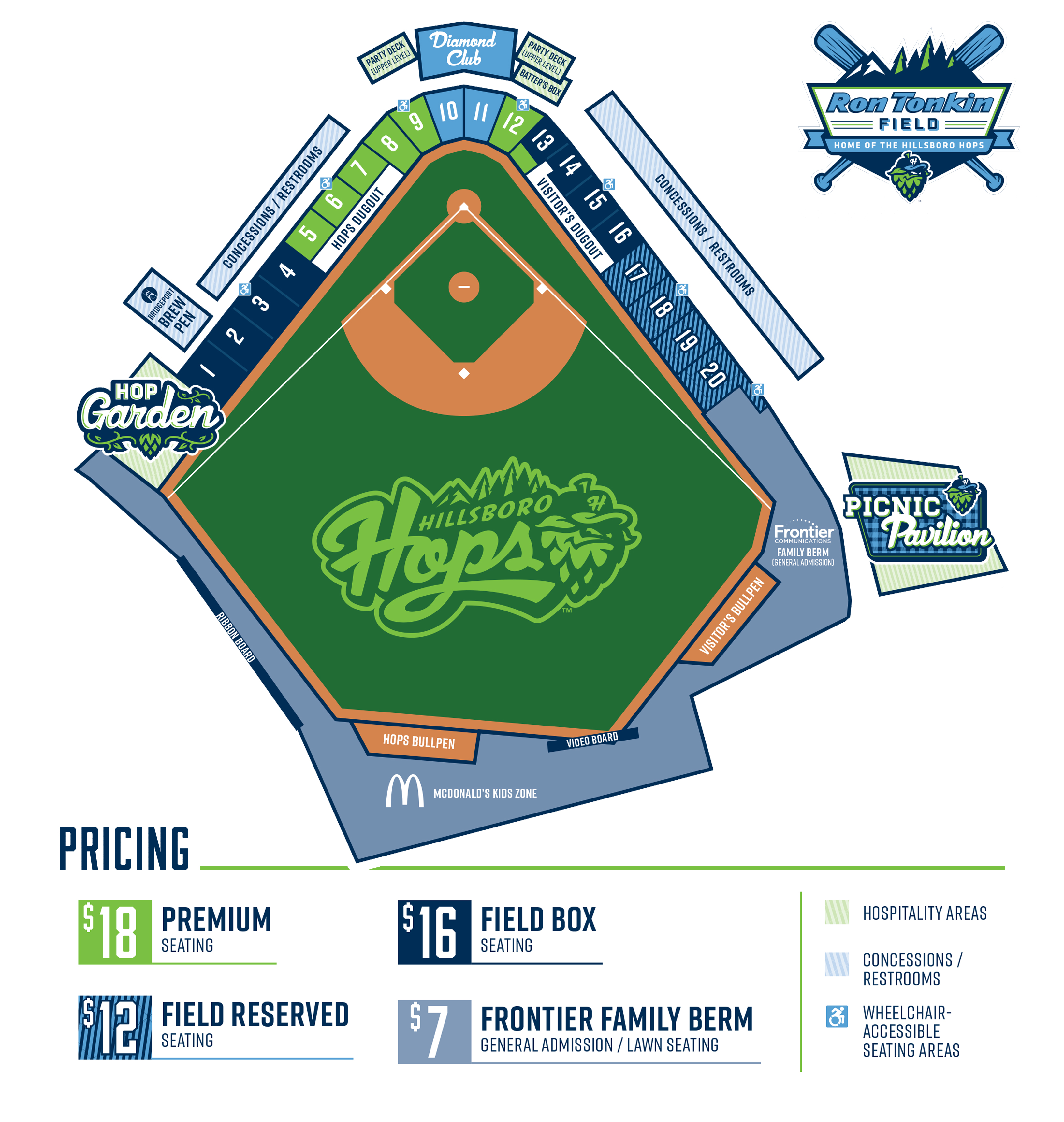Seating Chart | Hillsboro Hops Tickets