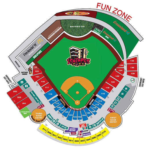 Seating Map   Albuquerque Isotopes Isotopes Park