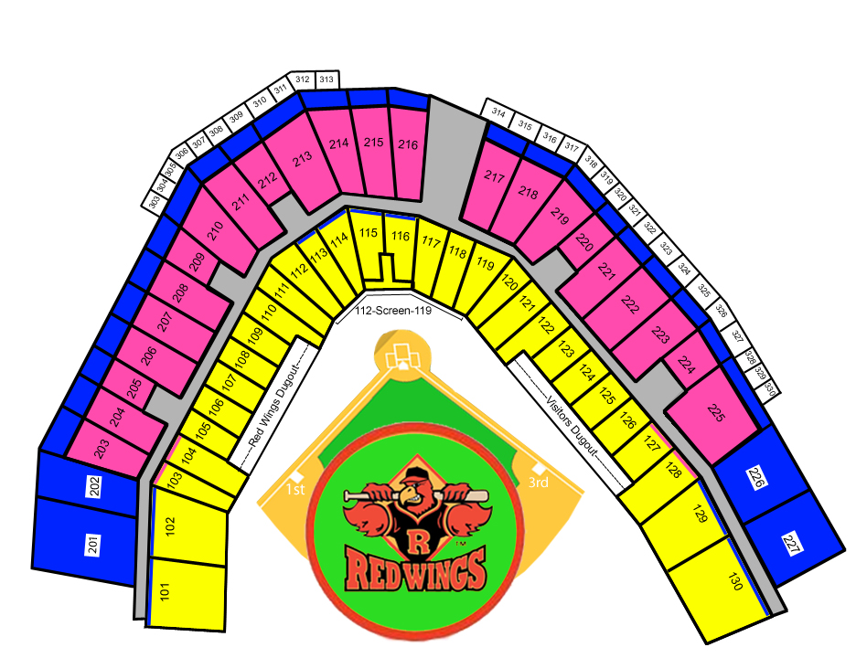Seating Chart Rochester Red Wings Frontier Field