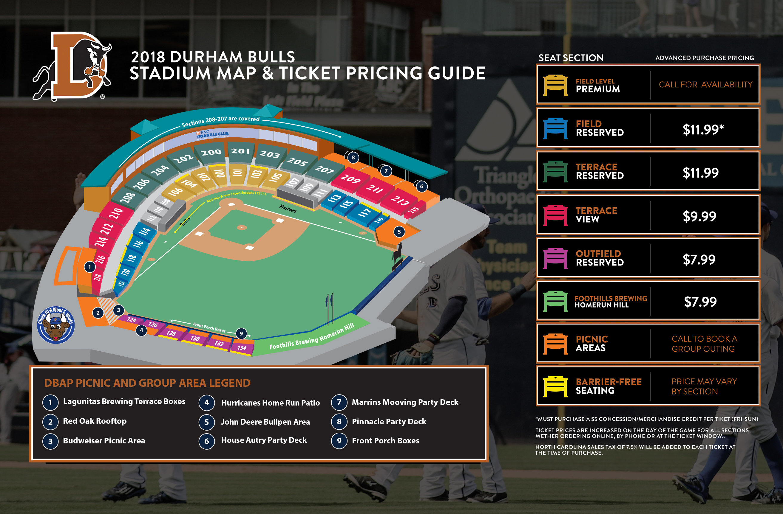 Here to Enlarge Group Tickets for Durham Bulls
