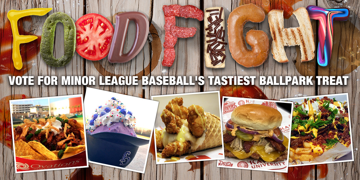 Food Fight Milbcom Fans The Official Site Of Minor League Baseball