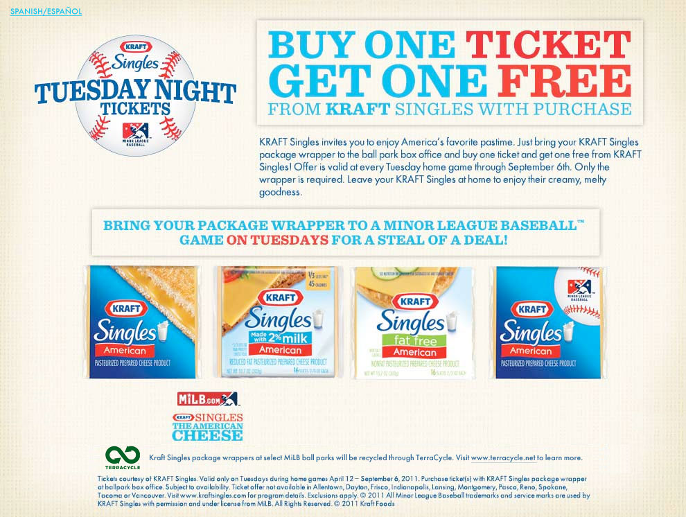 Kraft Singles Tuesday Night Tickets