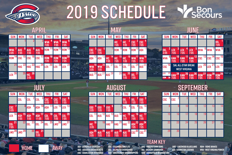 Red Sox Home Schedule 2019 Greenville Drive | MiLB.com