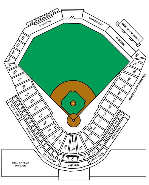 stadium map   louisville bats ballpark