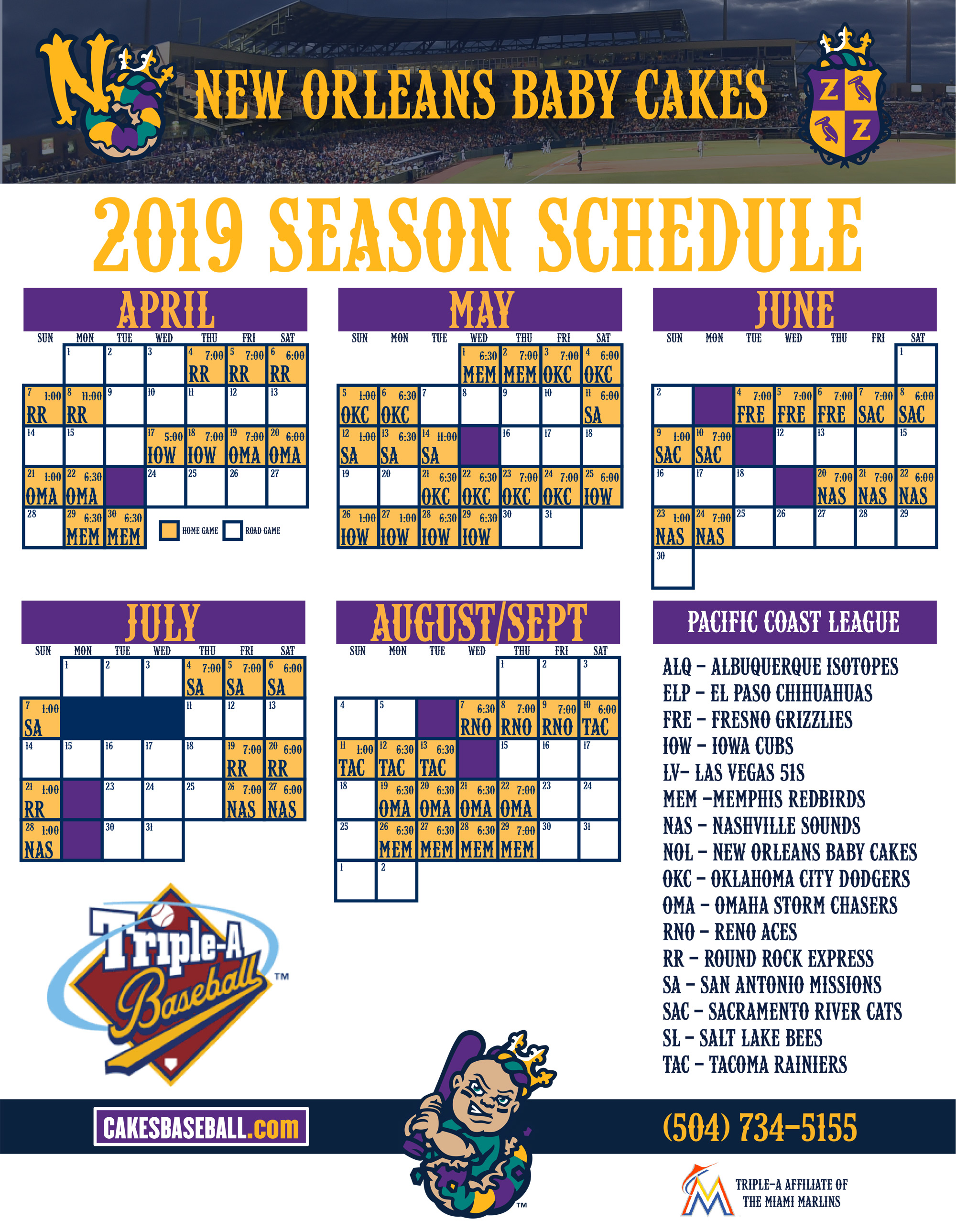 New Orleans 2019 Calendar New Orleans Baby Cakes Schedule | Schedule | Baby Cakes